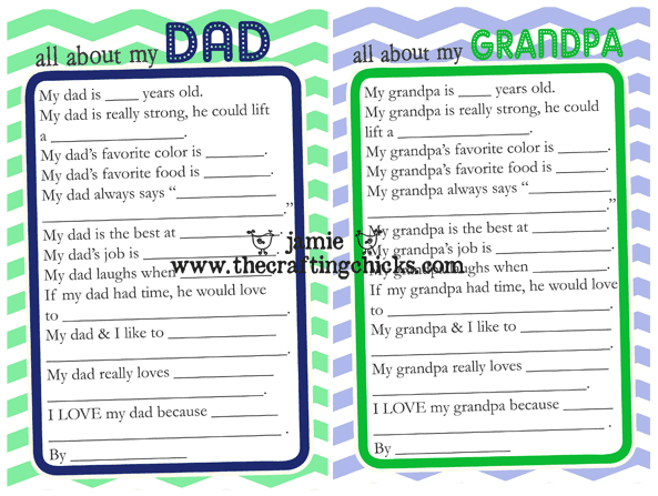 Fathers Day Questionnaires Links to Love: Fathers Day Edition!