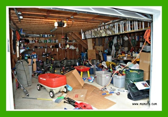 Great Garage Clean Out Before Main Level The Great Garage Challenge  The Big Reveal!