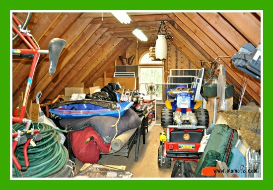 Great Garage Clean Out Before Upper Level The Great Garage Challenge  The Big Reveal!