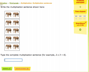 IXL problem example 300x244 4 Tips on How to Avoid the Summer Slide