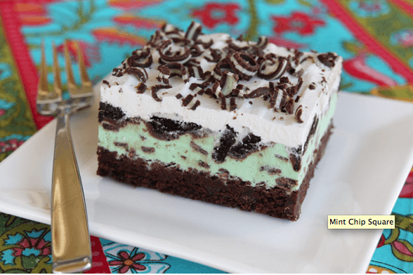 Mint Choc Chip Brownie Squares Links to Love: Fathers Day Edition!