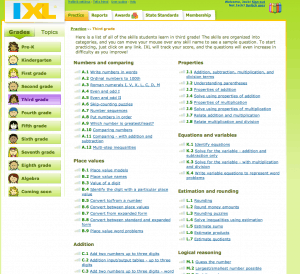 Snapshot of IXL topics 300x274 4 Tips on How to Avoid the Summer Slide