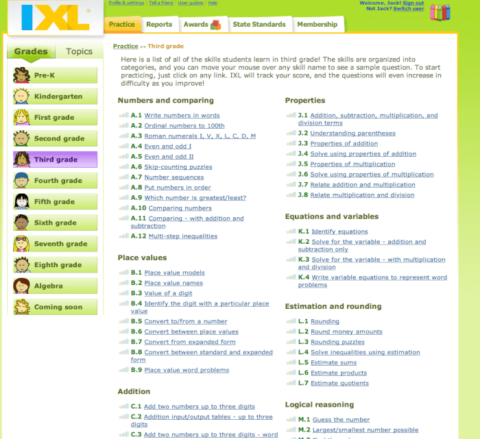 Ixl sign in ixl math and english online math and caroldoey