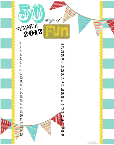 Summer Fun Chart Links to Love: The Start of Summer Edition!