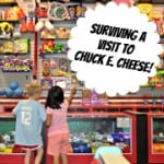 Surviving a Vist to Chuck E Cheese Badge