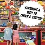 Surviving a Vist to Chuck E Cheese Badge