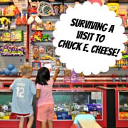 Surviving a Vist to Chuck E Cheese!