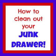 How to Clean Out Your Junk Drawer