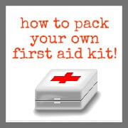 How to pack your own first aid kit