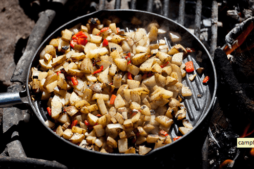 Campfire Breakfast Potatoes Links to  Love: Great Camping Ideas