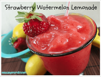 Frozen Strawberry Watermelon Lemonade Links to Love: The Watermelon Edition