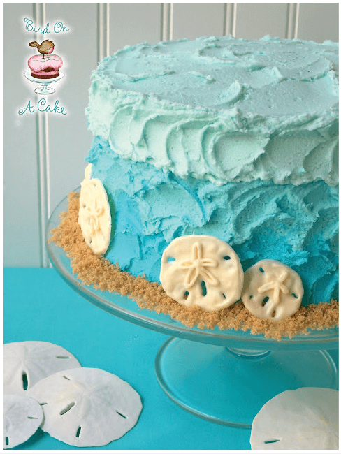 Ombre Beach Cake Links to Love: Birthday Party Dessert Inspiration