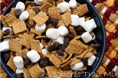 Smores Trail Mix Links to  Love: Great Camping Ideas