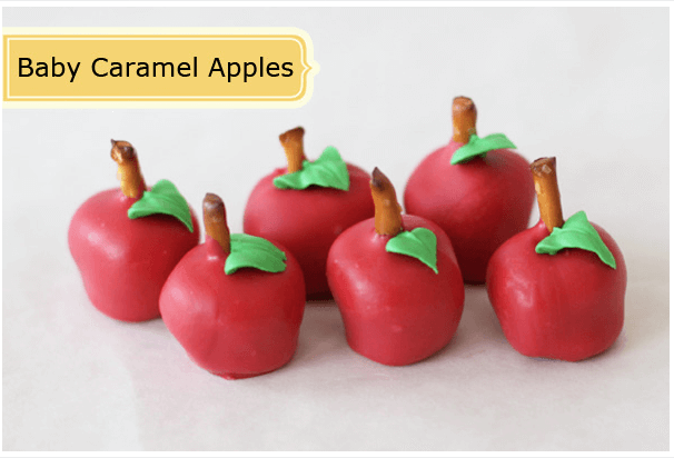 Baby Caramel Apples Links to Love: The Back to School Edition