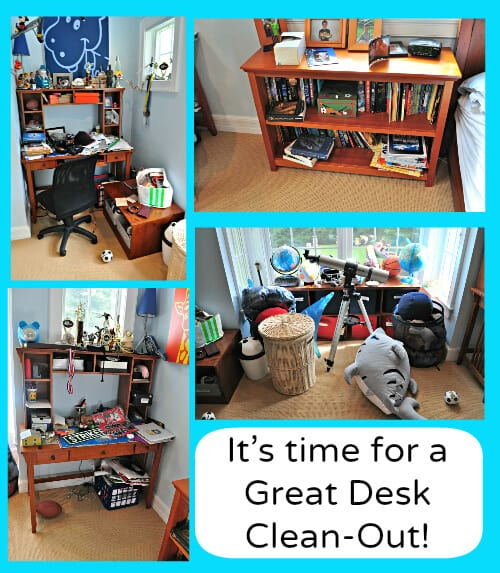 Its time for a great desk clean out Kids Desk (and Whole Room) Clean Up!