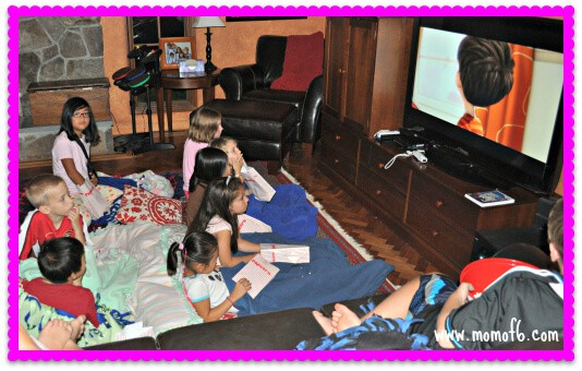 Just Dance Half Sleepover Party movie time 7 Year Old Girl Birthday Party Idea: Just Dance Half Sleepover Party!