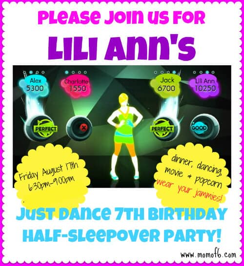 Lili Anns 7 Birthday Party edited 7 Year Old Girl Birthday Party Idea: Just Dance Half Sleepover Party!