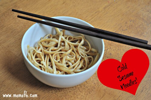 Momof6 Cold Sesame Noodles Beyond Bologna: Making Back to School Lunch Healthy, Happy, & Hip!