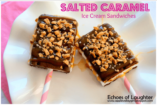 Salted Caramel Ice Cream Sandwiches Links to Love: Continue the Summer Fun!