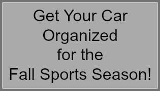 Get Your Car Organized for the Fall Sports Season