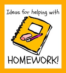 Ideas for helping with homework