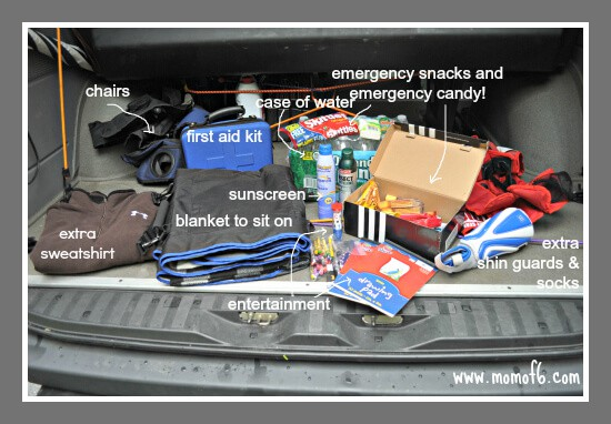 Organizing the Car for Sports How To Get Your Car Organized for the Fall Sports Season!