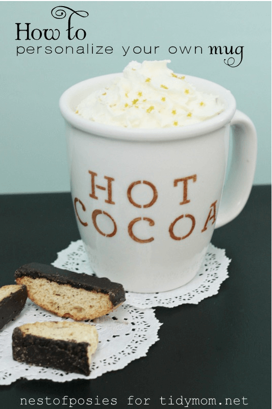 how to personalize a mug Links to Love... Skinny Pancakes, DIY Mugs and Candleholders and More!