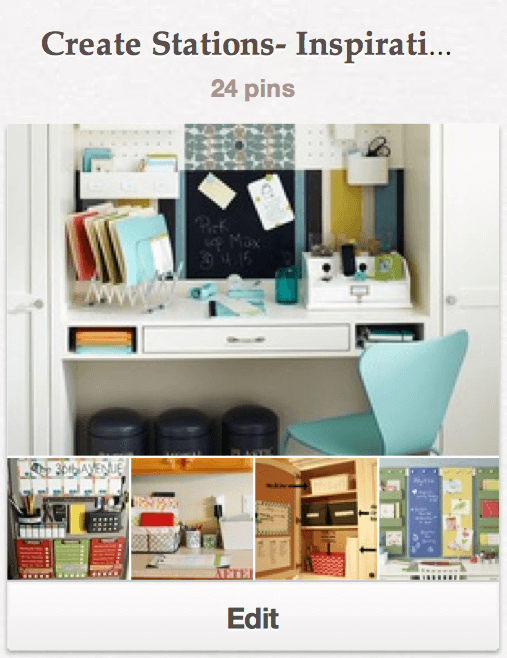 Creat Stations Inspiration Board Pinterest Get Your Life Organized Boot Camp {Week 1 }  Set Up Some Stations!
