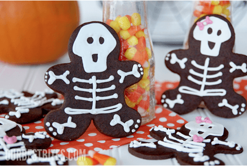 Gingerbread Skeleton Cookies Links to Love: Halloween Treats for the Classroom