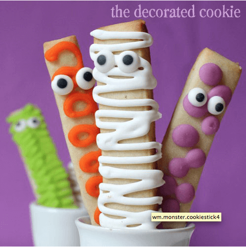 Monster Cookie Sticks Links to Love  Last Minute Easy Halloween Ideas