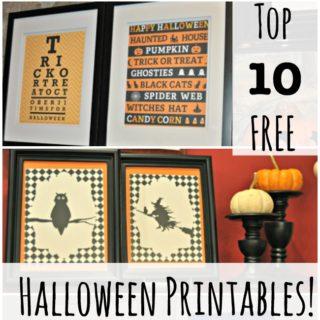 The Top 10 Free Halloween Subway Art Printables!