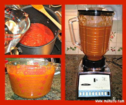 Blending the Tomato Soup The Best EVER Homemade Tomato Soup!