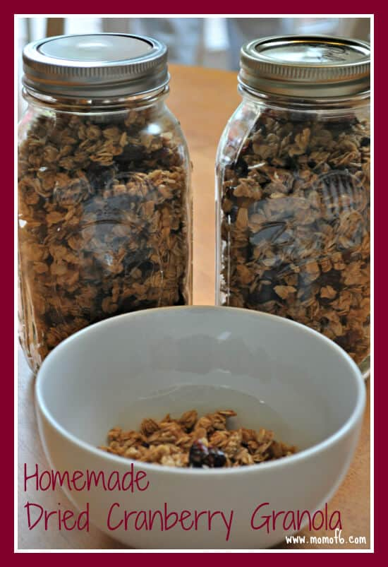 Homemade Dried Cherry Granola finished Homemade Dried Cranberry Granola! {I Pinned it and I Tried It!}