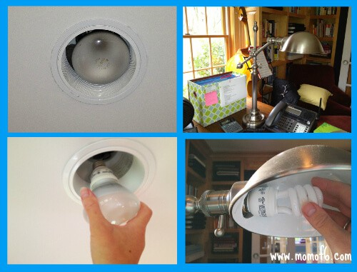 replacing the bulbs Saving Money and Going Green.... by Buying Better Lightbulbs!