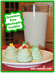 Christmas Tree Meringue Cookies