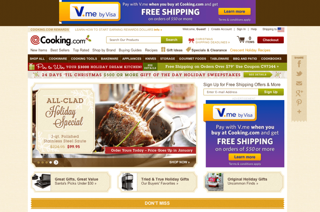 Cooking with Visa ad 1024x680 My Best New Online Shopping Tip!
