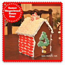 Easiest Gingerbread House