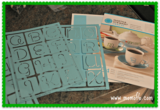 Hand Stenciled Mug the kit A Homemade Gift Idea that Even YOU Would Love to Receive!