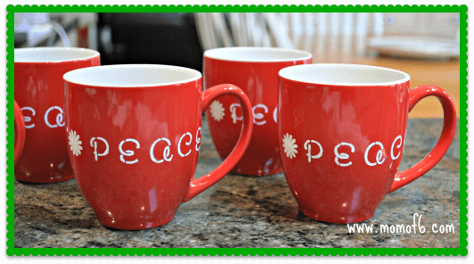 Hand Stenciled Mugs final product A Homemade Gift Idea that Even YOU Would Love to Receive!