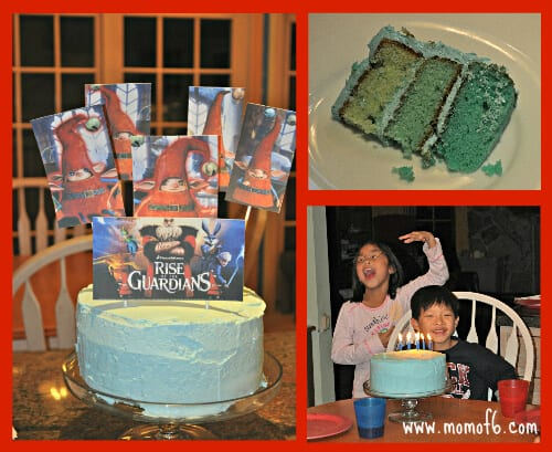 Rise of the Guardians Birthday Cake Great 7 Year Old Birthday Party Idea: Rise of the Guardians {Go Out to the Movies} Birthday Party!