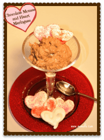 Chocolate Mousse and Heart Meringues