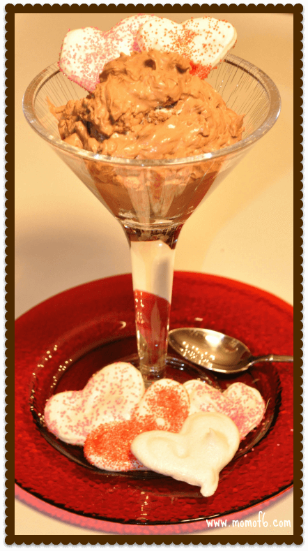 Chocolate Mousse Meringues Valentines Day Dessert: Chocolate Mousse with Heart Meringues!