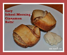 Easy School-Morning Cinnamon Rolls