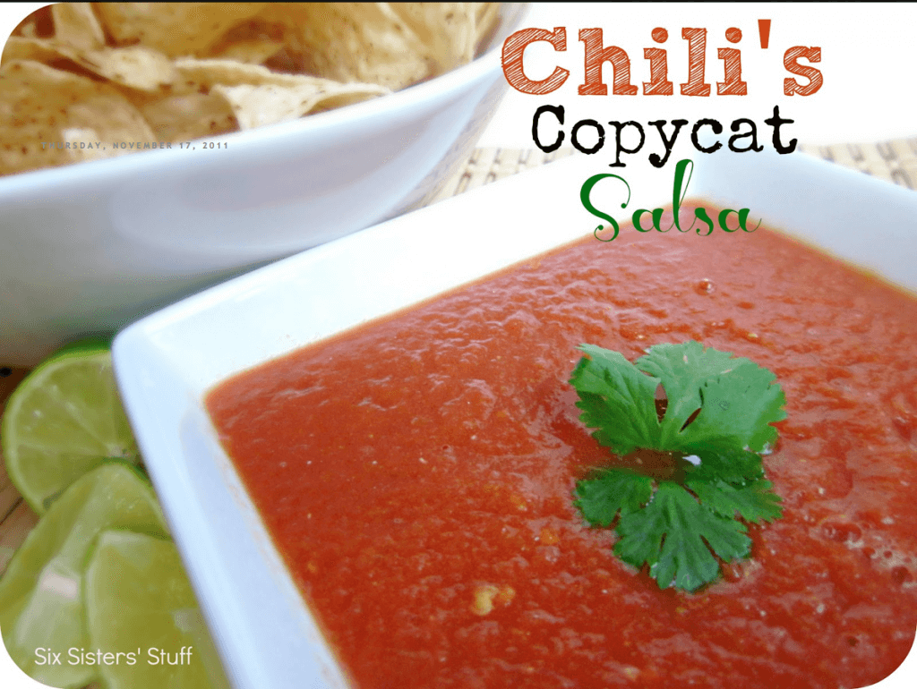 Copycat Chilis Salsa Six Sisters Stuff 1024x770 11 Great Superbowl Snack Ideas {Links to Love}