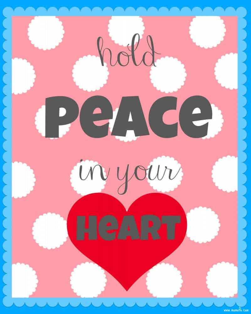 Hold Peace In Your Heart 819x1024 New Year New You and Winter Subway Art Printables!