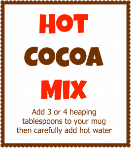 At our house we prefer to make our own large-sized tub of homemade hot cocoa mix rather than buying those expensive single-serving pouches at the grocery store. And we think this recipe tastes better too!