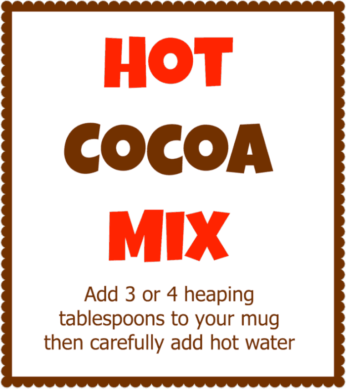 Hot Cocoa Mix Printable Momof6 Homemade Hot Cocoa Mix!