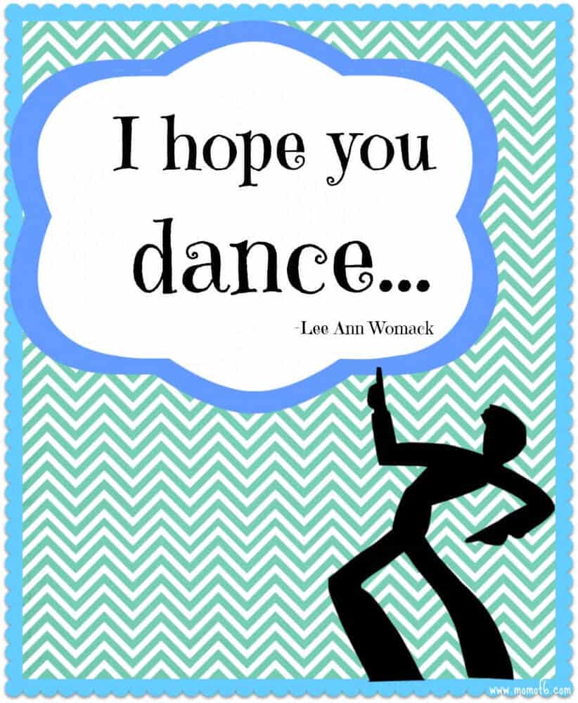 I Hope You Dance 842x1024 New Year New You and Winter Subway Art Printables!