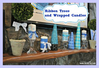 Ribbon Trees and Wrapped Candles
