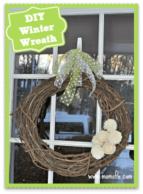 DIY Easy Winter wreath